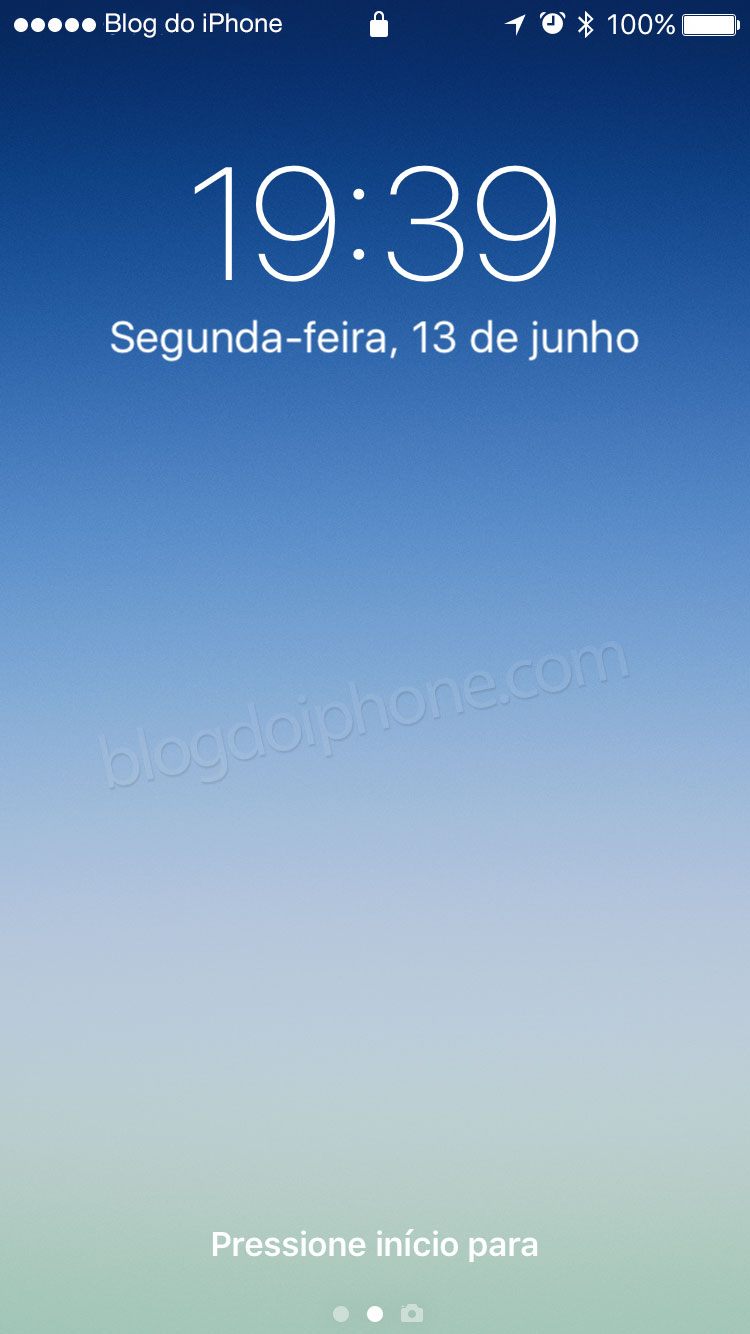 iOS 10 tela bloqueada