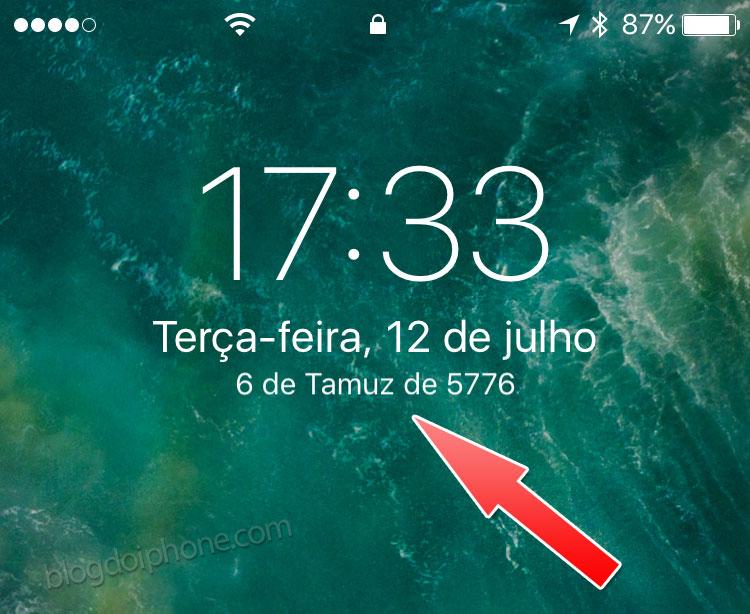 Calendário alternativo iOS 10