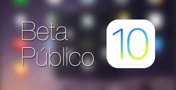 Beta Público iOS 10