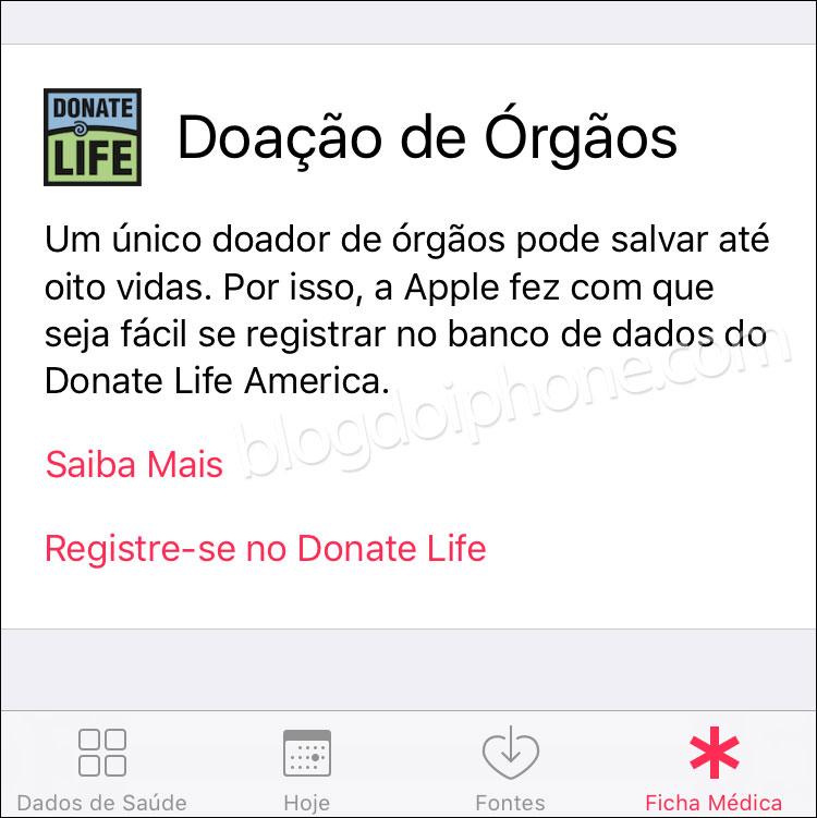 iOS 10 Doação