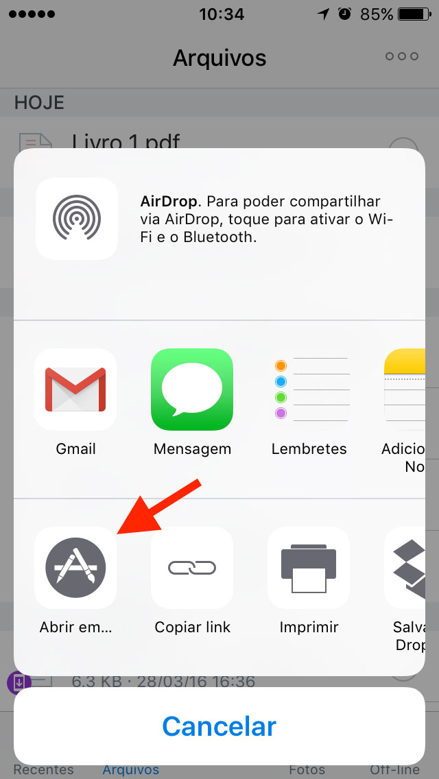 Tutorial Scanner com Dropbox