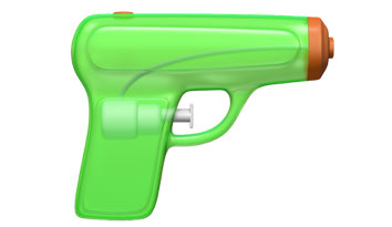 Emoji iOS 10 - Pistola
