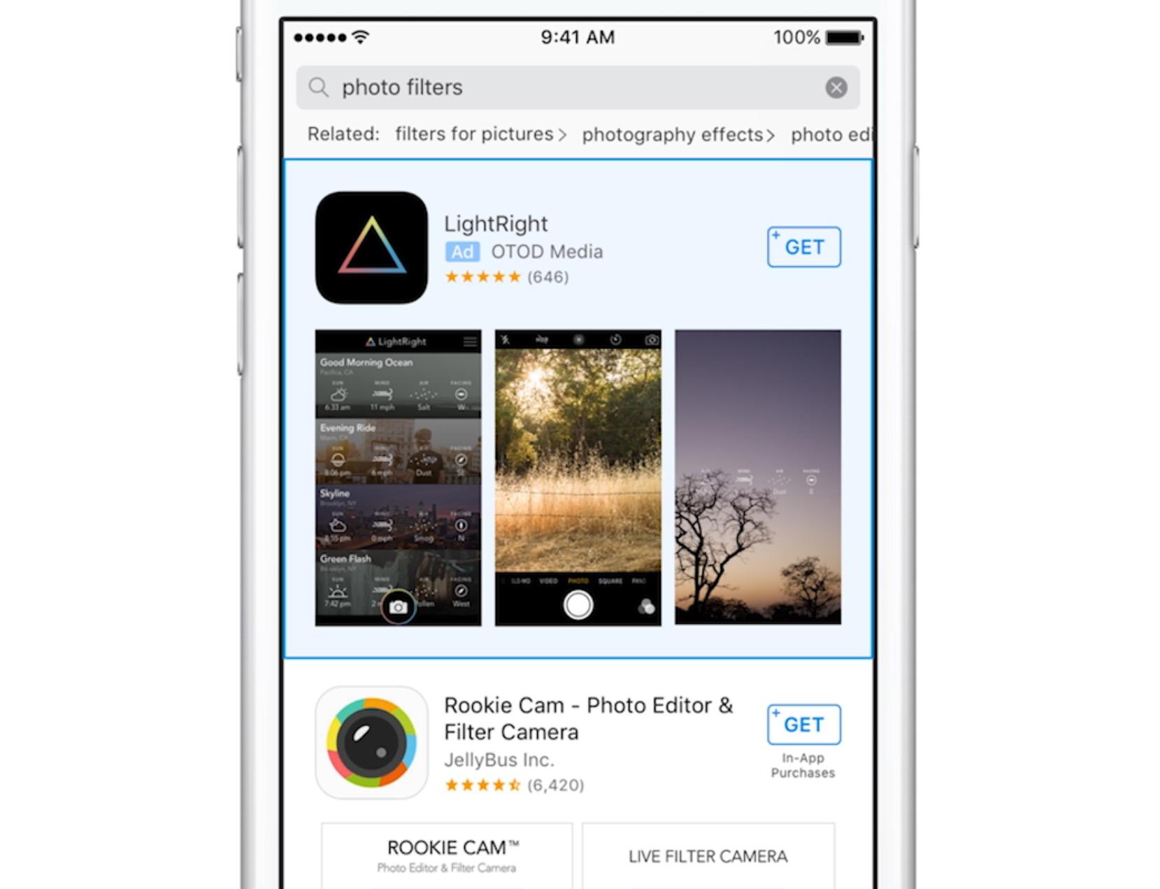 App Store publicidade