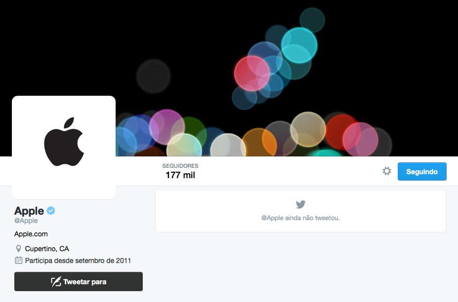 Twitter @Apple