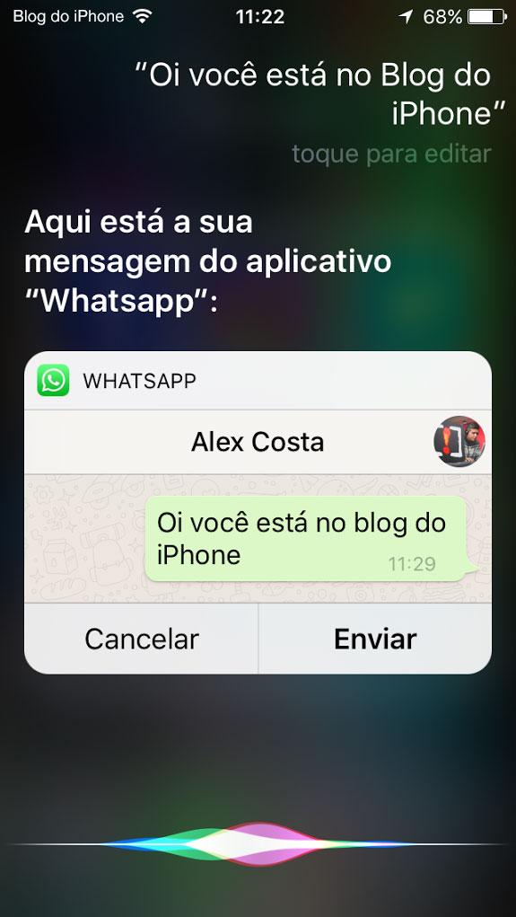 WhatsApp + Siri