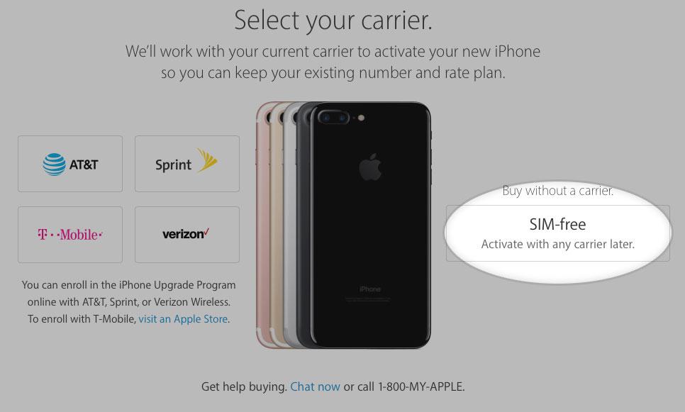 iPhone 7 SIM-free