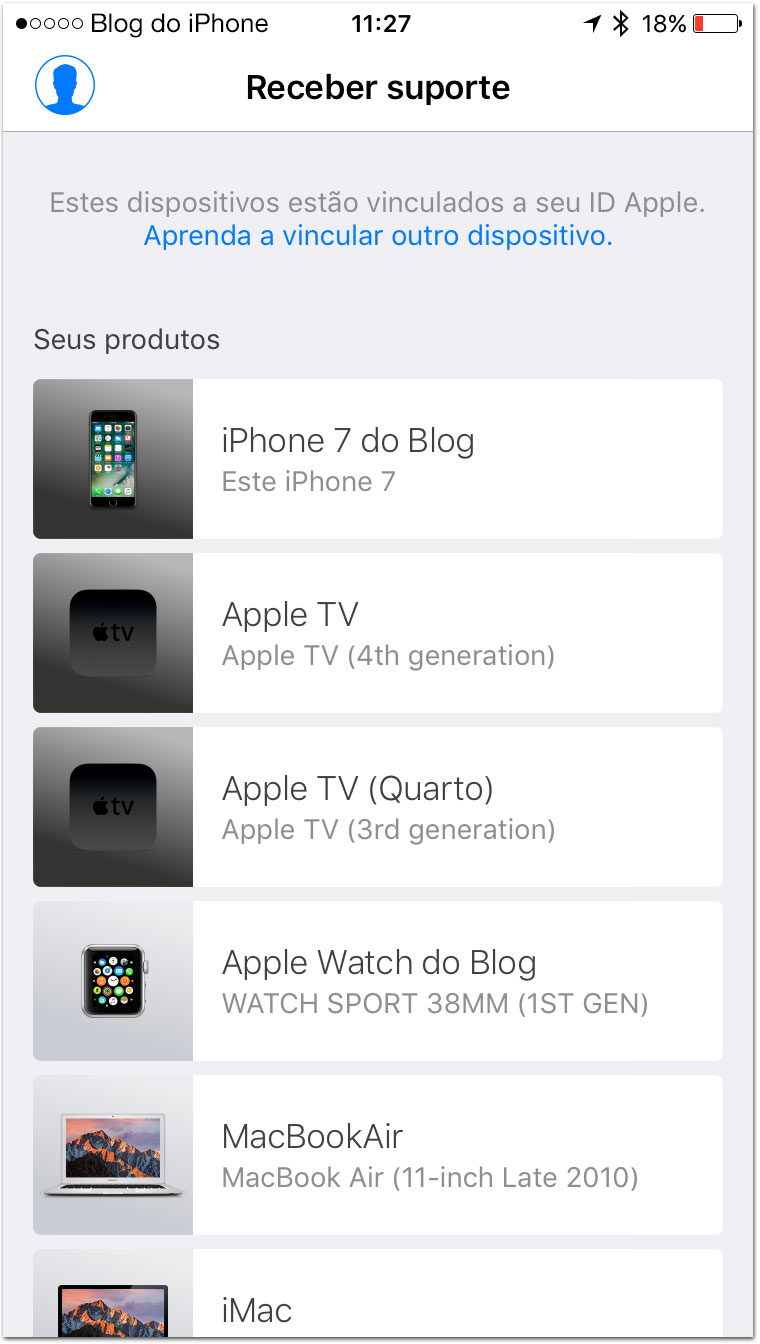 Suporte Apple