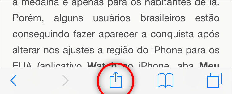 Favoritos do Safari
