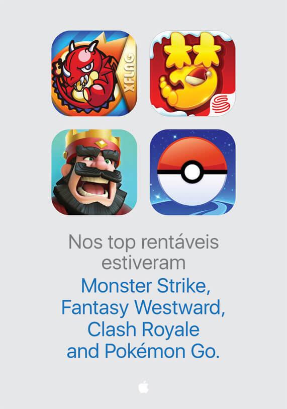 Top rentáveis App Store