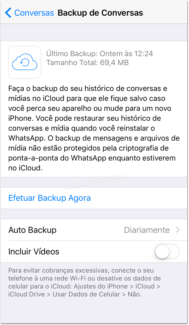 como restaurar um backup do whatsapp