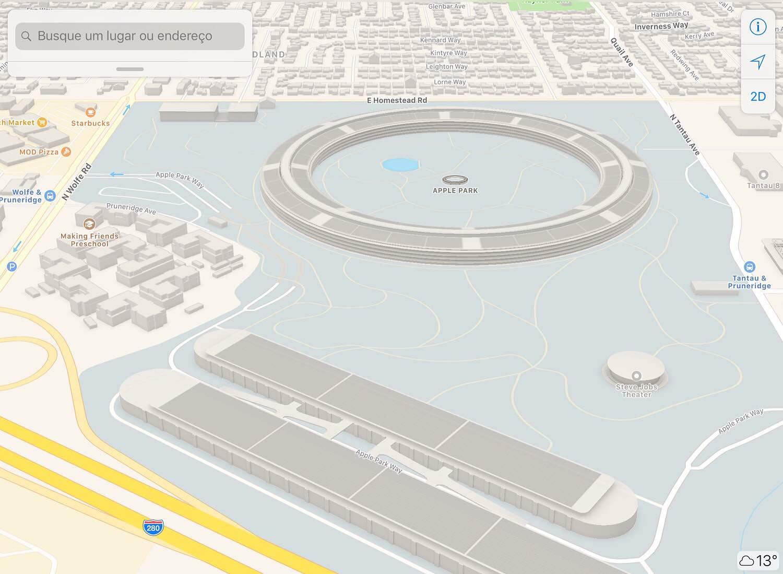 Photo of Apple inclui modelos em 3D do seu novo campus nos mapas