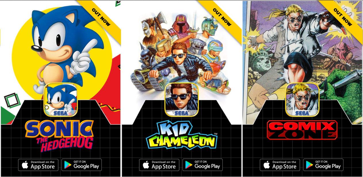 Photo of Sega relança jogos clássicos na App Store, com download grátis