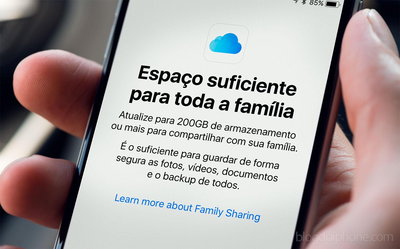 Photo of Espaço do iCloud poderá ser compartilhado entre familiares