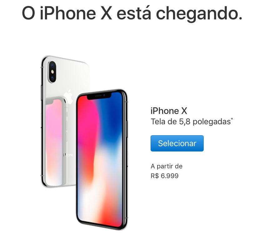 969fa968f ... no Brasil ao mesmo tempo que em outros países. ATUALIZADO: a Apple  atualizou sua página, informando uma data para o iPhone 8 e não para o iPhone  X.