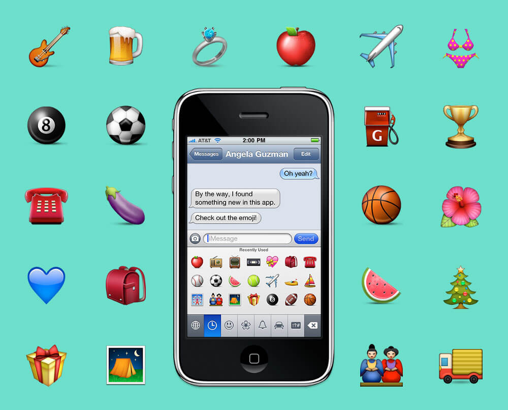 The first iPhone emojis were designed by a trainee