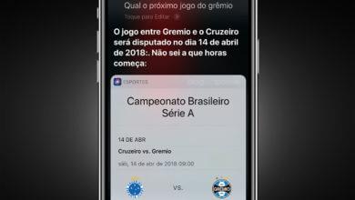 Photo of Siri em português agora dá resultados de esportes no Brasil, de forma limitada