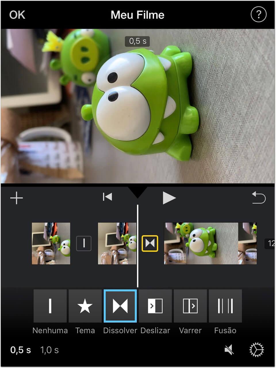 Como editar um vídeo vertical no iMovie do iOS, sem cortes