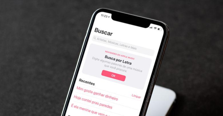 Photo of Busca de músicas por letra no Apple Music começa a funcionar em português