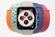 Apple Watch com várias pulseiras coloridas