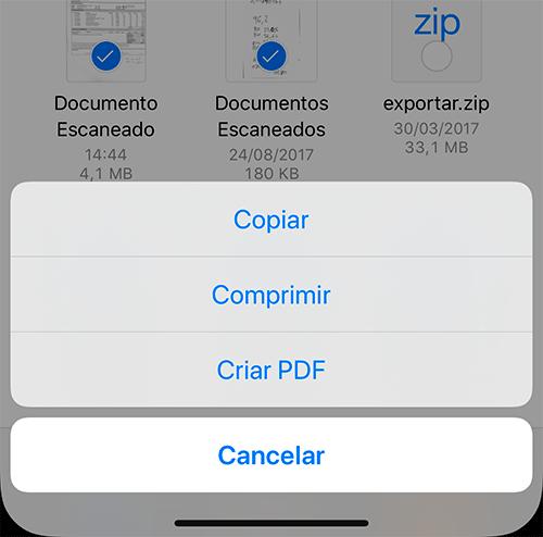Comprimir arquivos no iOS