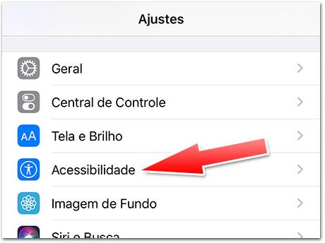 iOS 13 Acessibilidade