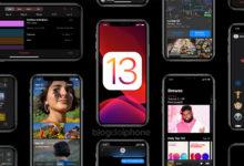 iPhones com iOS 13 e fundo preto