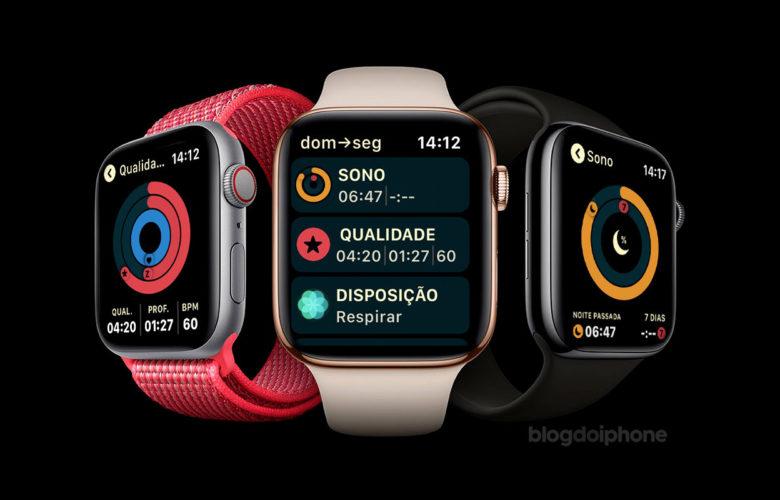 Monitoramento do sono Apple Watch