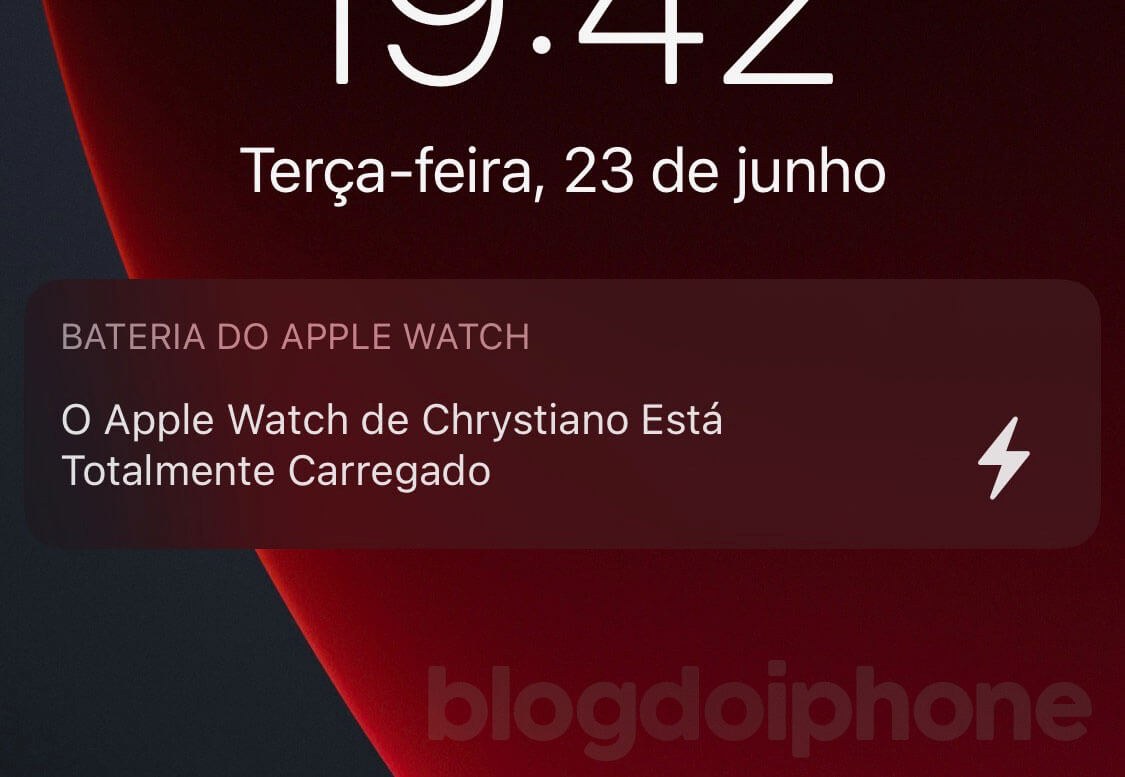 iOS 14 Carga Apple Watch